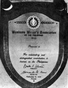 1955 AY Insuranceman of the Year