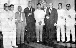 1961 AY with Irving Trust NY executives