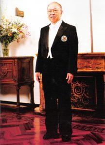 1993 AY sporting Sacred Treasure medal