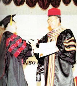 1995 AY Honorary Doctorate from U of Baguio
