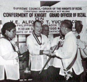 1998 AY Knight Grand Officer of Rizal
