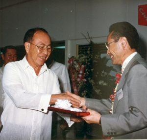 1998 AY with Japan Amb Yushita