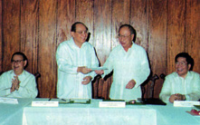 1999 AY Donation to DLSU new building