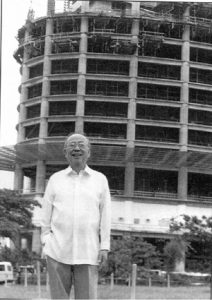 1999 AY in front of the rising RCBC Plaza