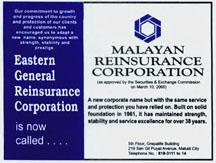 2000 Malayan Insurance EGRC to Malayan Re ad