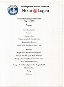 2006 MCL Groundbreaking Ceremonies Invitation