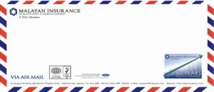 2009 Malayan 80th anniversary business envelope