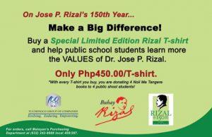 2011 YGC Buhay Rizal - Rizal at 150 t-shirt poster