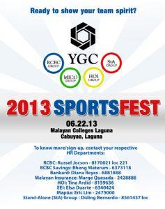 2013 YGC invitation - YGC sports fest