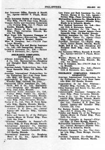 China Insurance - Fidelity 1938-1939