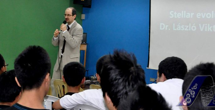 Hungarian expert visits Malayan High School of Science; piques Malayans' interest in space science